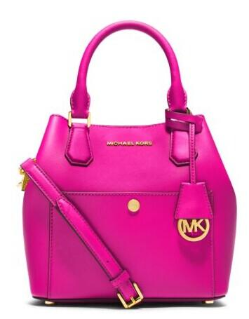 Greenwich Medium Saffiano Leather Satchel @ Michael Kors