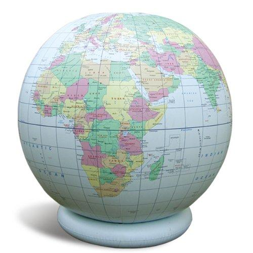 "Jet Creations 36"" Inflatable Globe - Blue Political"