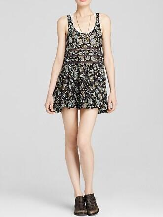 Free People Dress - Printed Lace Trapeze @ Bloomingdales