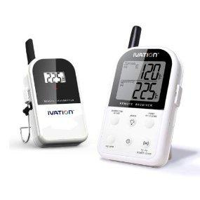 Lowest price! $44.49 Lightning deal! Ivation Long Range Wireless Thermometer