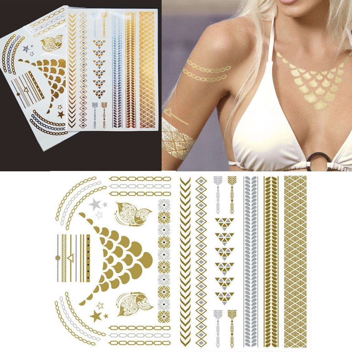 Righteous Lotus Temporary Metallic Tattoos