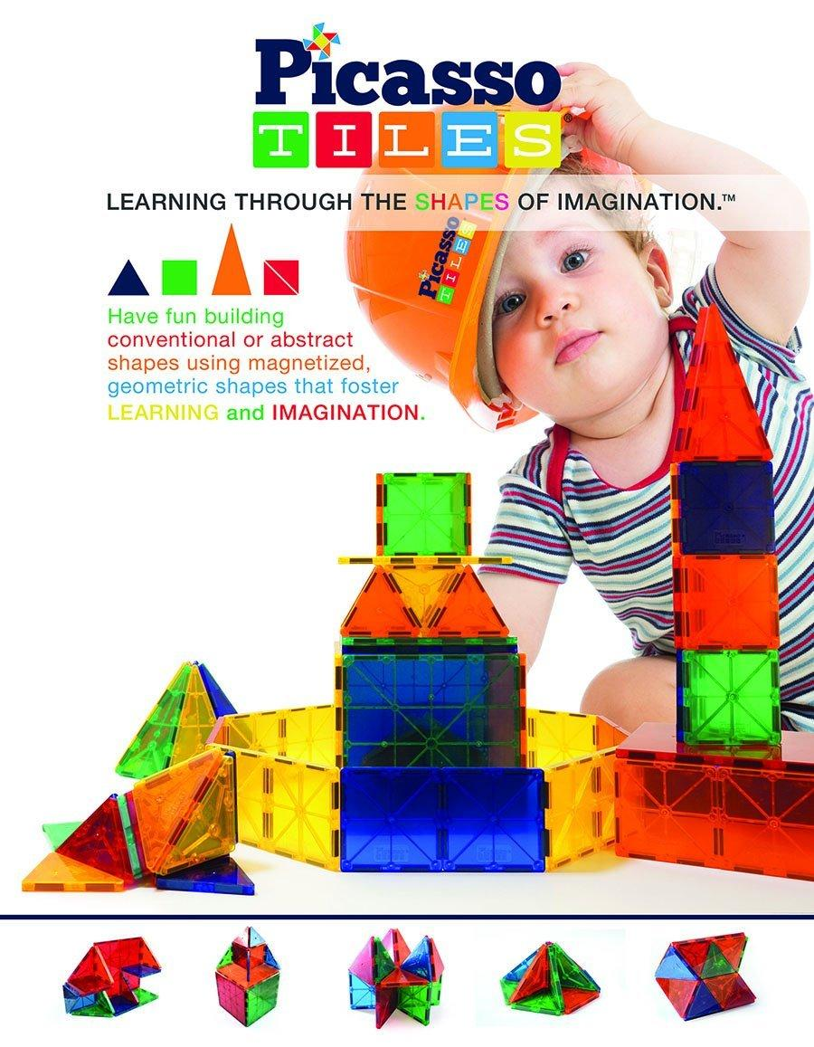 Picasso Tiles Clear 3d Magnetic Building Blocks, 60-piece @ Amazon