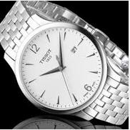 Lowest price! Tissot Men's T0636101103700 Tradition Analog Display Swiss Quartz Silver Watch