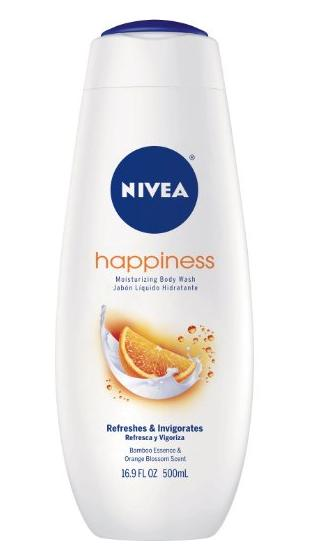 NIVEA Happiness Body Wash, Orange Blossom, 16.9 Ounce (Pack of 3)