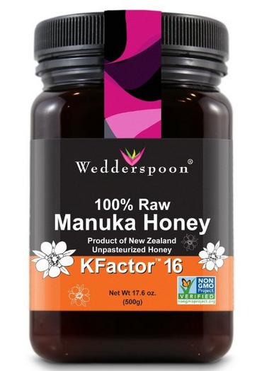 $39.7 Wedderspoon 100% Raw Manuka Honey KFactor 16 500g