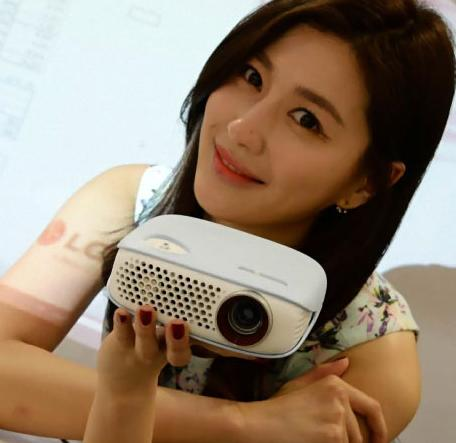 $399.99 LG WXGA LED Minibeam Projector White PW800