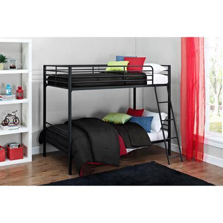 $99.5 Mainstays Twin over Twin Convertible Bunk Bed, Siliver