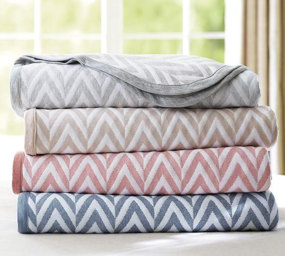 $27.99 Pottery Barn Chevron Blankets