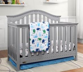 Graco Bryson 4-in-1 Convertible Crib, Pebble Gray @ Amazon.com