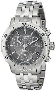$329 Tissot Men's T0674171105100 PRS 200 gray Chronograph Dial Watch