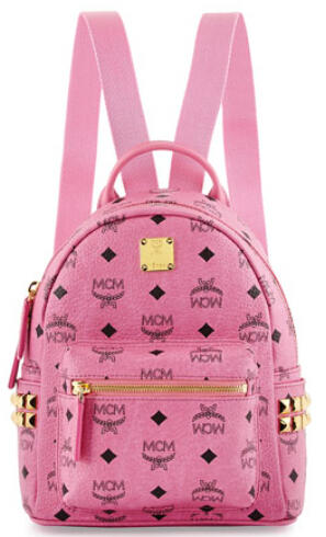 Up to $300 Gift Card  MCM Stark Side Stud Backpack X-Mini @ Neiman Marcus