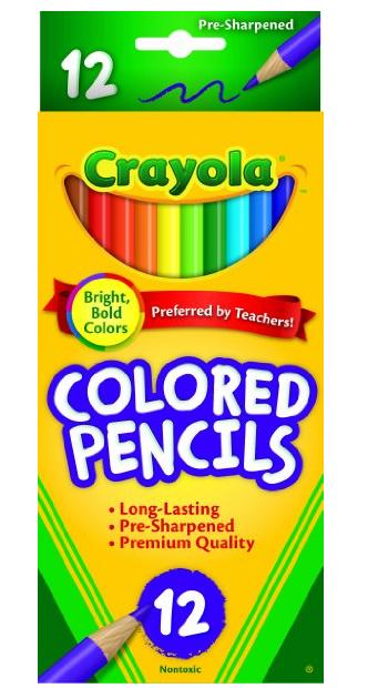 $0.97 + Free Shipping Crayola Colored Pencils, Assorted Colors, 12 count @ Amazon.com