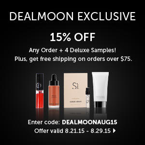15% Off + 4 Deluxe Samples on any Orders @ Giorgio Armani Beauty, Dealmoon Exclusive