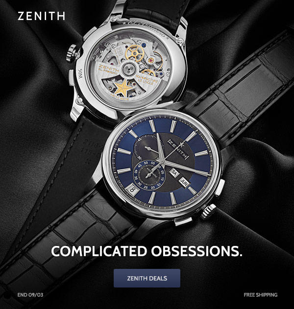 Up to 59% Off Zenith Sale Event @ Ashford