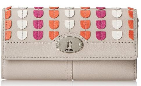 Fossil Marlow Patchwork Zip Clutch