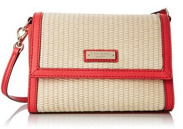 Kate Spade New York Cedar Street Straw Magnolia Cross-Body Bag