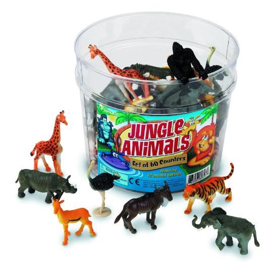 $14.99 Amazon.com: Learning Resources Jungle Animals Set of 60: Toys & Games