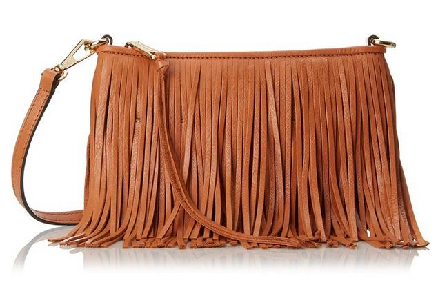 Rebecca Minkoff Finn Clutch Cross Body, Cognac & Rose Gold