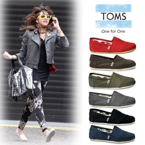 Toms Classic Women's Slip-On Shoes Authentic