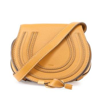 $795+$200GC Chloe Marcie Small Crossbody Bag, Curry Yellow @ Neiman Marcus
