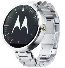 Motorola Moto 360, Light Finish Case, Light Metal 18mm Band