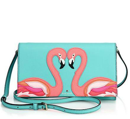 Kate Spade New York Flamingo Saffiano Leather Crossbody Bag
