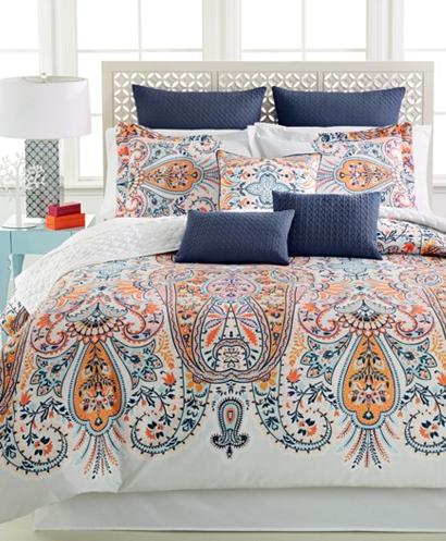 Taylia Reversible 10-Pc. Queen Comforter Set @ Macy's