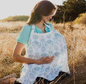 Bebe au Lait Premium Cotton Nursing Cover, Featherwave