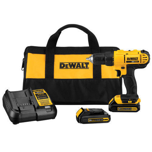 "$69.99 DEWALT 20V MAX Li-Ion 1/2"" Compact Drill Driver Kit DCD771C2 (Manufacturer refurbished)"