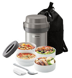 $39.98 Zojirushi SL-JAE14HG Mr Bento Stainless Lunch Jar, Gun Metallic