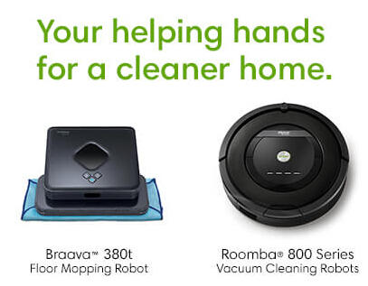 15% Off Braava 380t and Roomba 800 Series @ iRobot