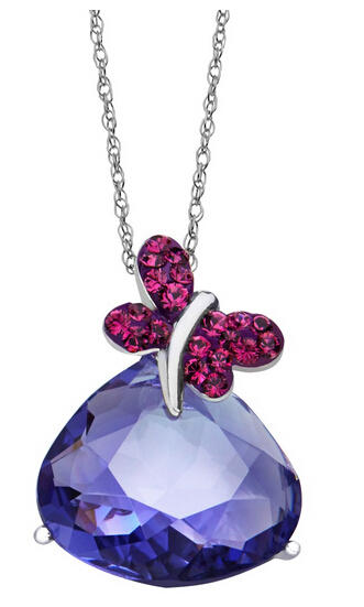 Butterfly Pendant with Swarovski Crystals