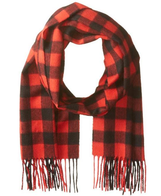 $17.56 Phenix Cashmere Men's Buffalo Plaid Scarf