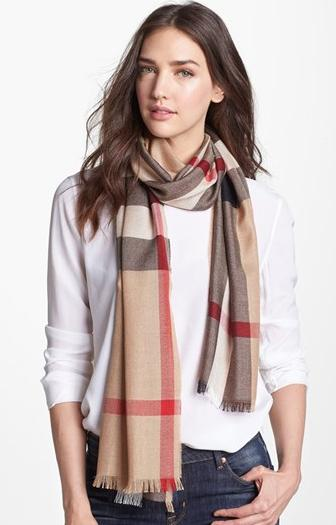 Burberry Check Scarf @ Nordstrom