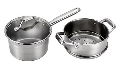 Lowest price! T-fal Ellegance Stainless Steel Oven Safe Double Boiler Cookware
