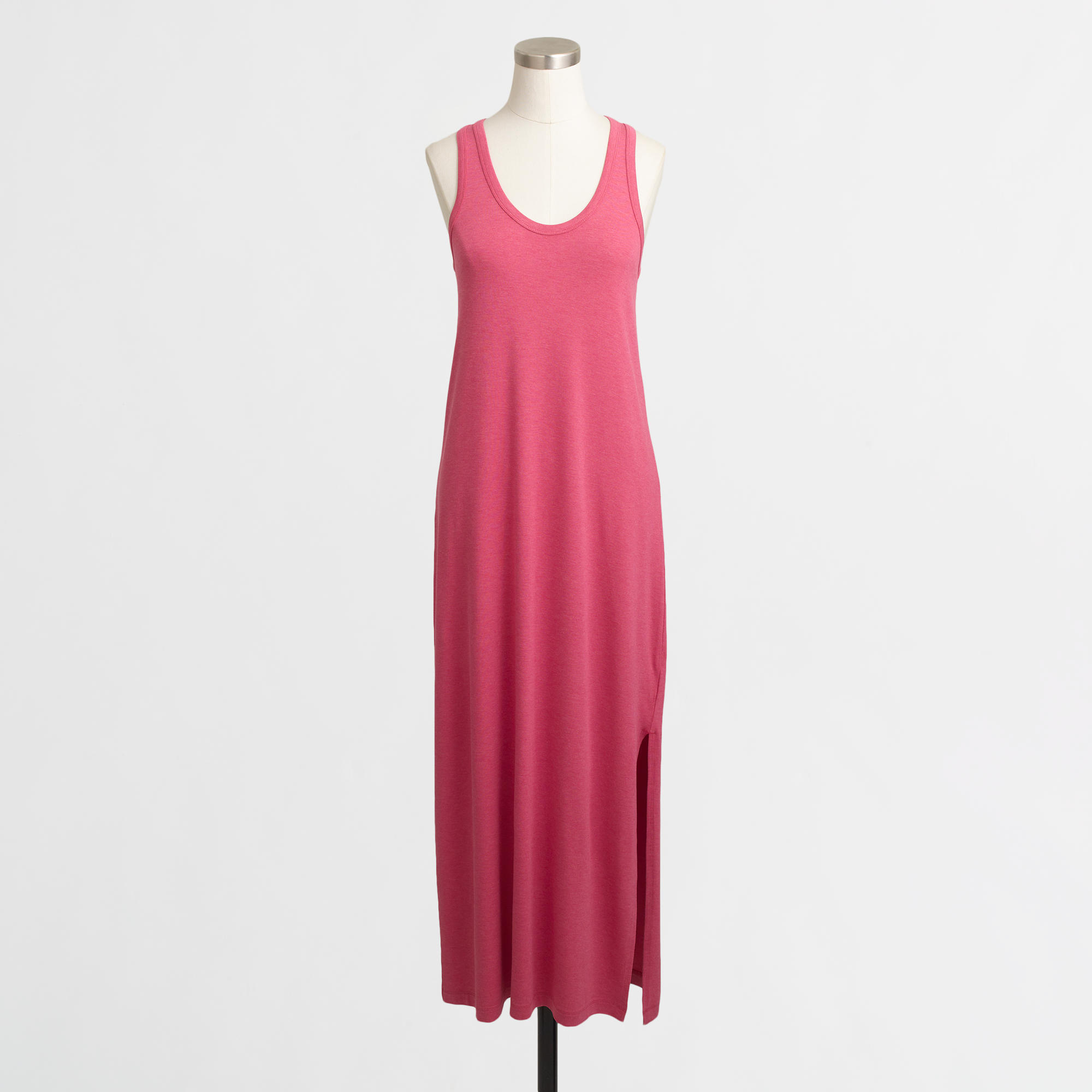 J.Crew Factory Women's Knit Racerback Solid Maxi Dress