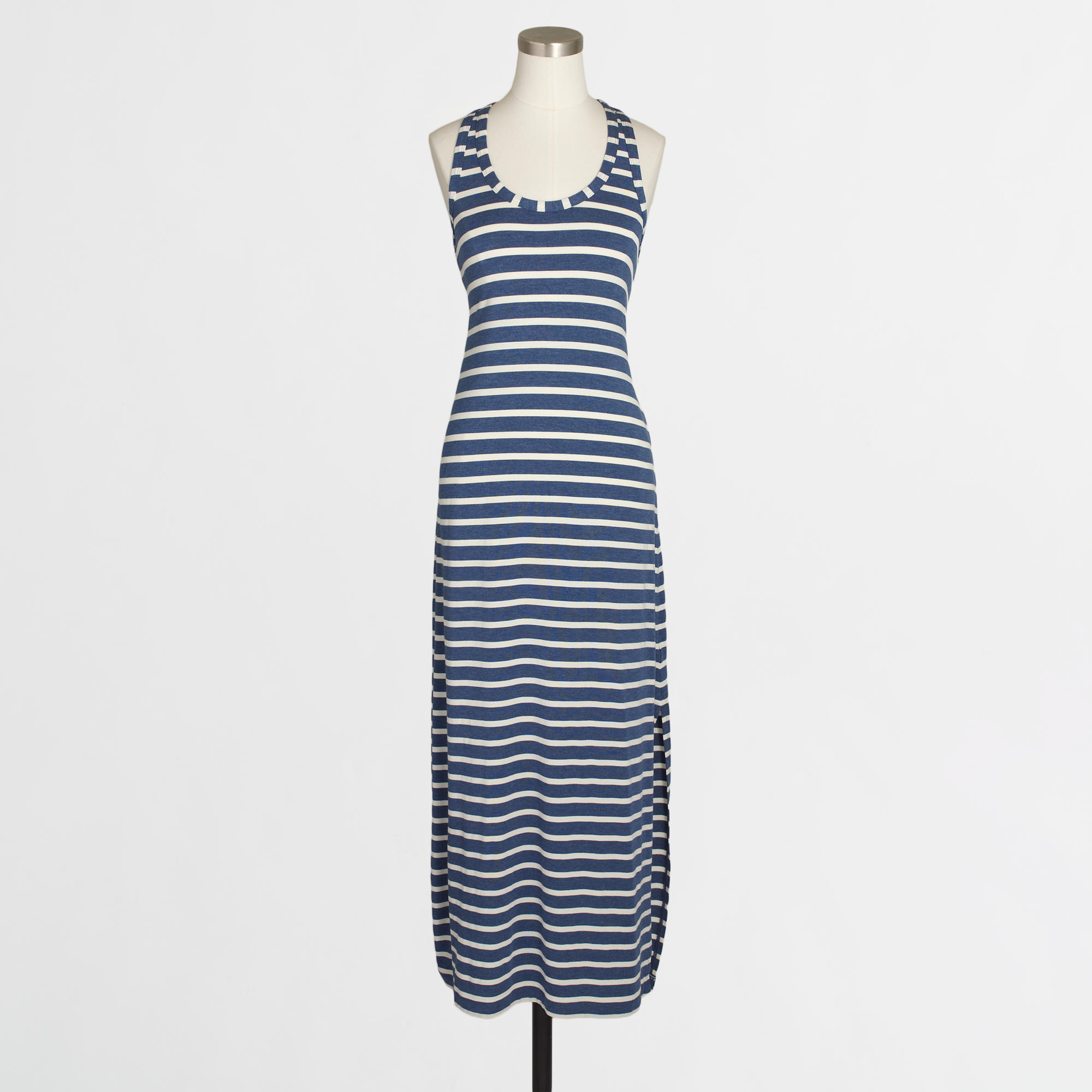 J.Crew Factory Knit Raceback Maxi Dress in Stripe