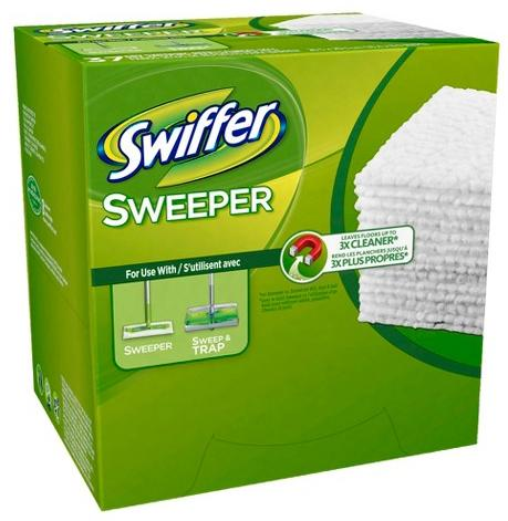 Free $5 Gift Card + Extra 10% Off (5) Swiffer Sweeper Dry Pad Refills Unscented 37 count