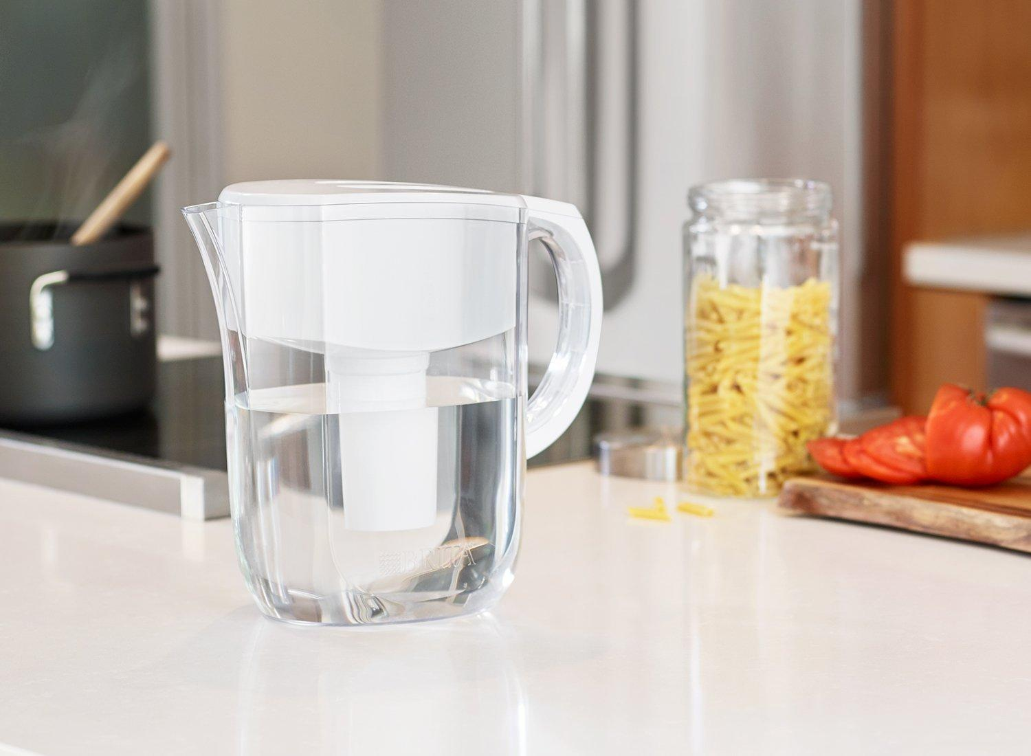 $15.99 Lightning deal! Brita 5 Cup Metro Water Pitcher with 1 Filter, BPA Free, White