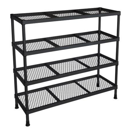Sandusky Gray Combination Wire Shelving Unit, 4 Shelves