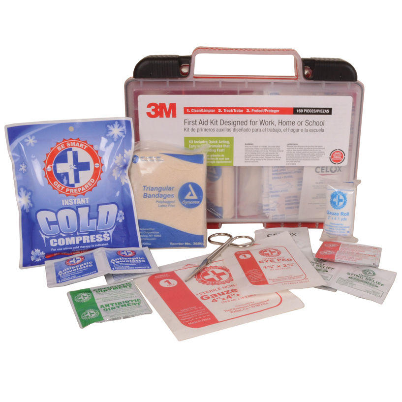 3M 169 Piece Medical Emergency First Aid Kit