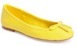 COACH 'Florabelle' Leather Flat