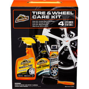 Armor All 4 Pieces Wheel and Tire Care Gift Set Bundle