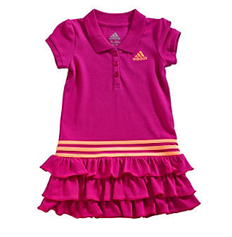 adidas Baby Girls' Ruffle Polo Dress