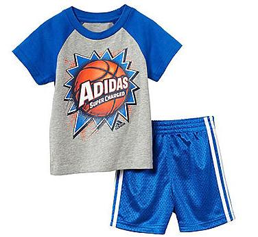 adidas Baby Boys' 2-Piece Baller Shorts Outfit Set