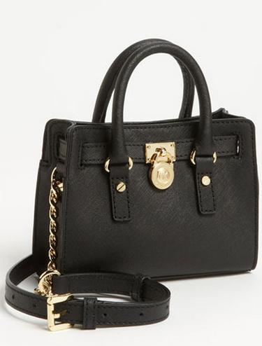 MICHAEL Michael Kors 'Hamilton - Mini' Leather Messenger Bag