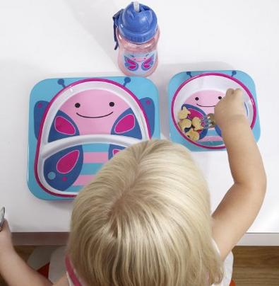 $11.94 Skip Hop Zoo Melamine Plate and Bowl Set, Butterfly