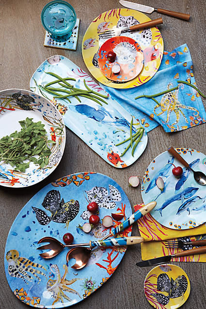 Under The Sea Melamine Canape Plate @ anthropologie