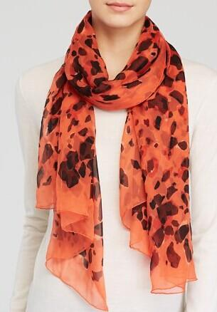 Burberry Animal Print Silk Scarf @ Bloomingdales