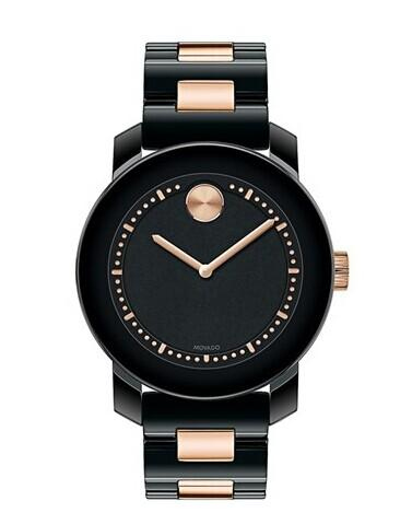 Movado 'Bold' Two Tone Ceramic Bracelet Watch, 36mm @ Nordstrom